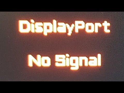 🚩 Nvidia DisplayPort нет сигнала не работает черный экран