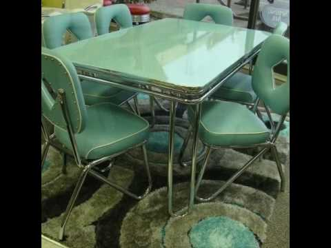 Vintage Chrome Dinette and Kitchen Sets - YouTube
