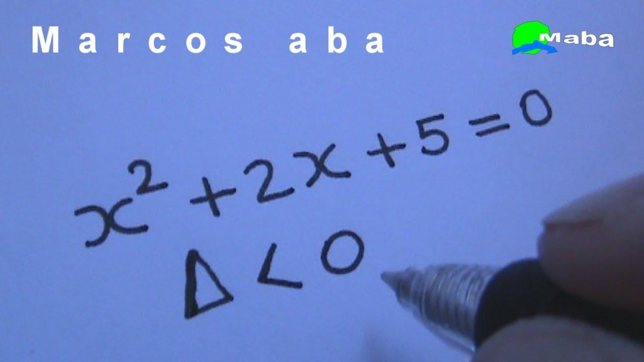 115b5443200 Equação do segundo grau - Delta negativo - YouTube