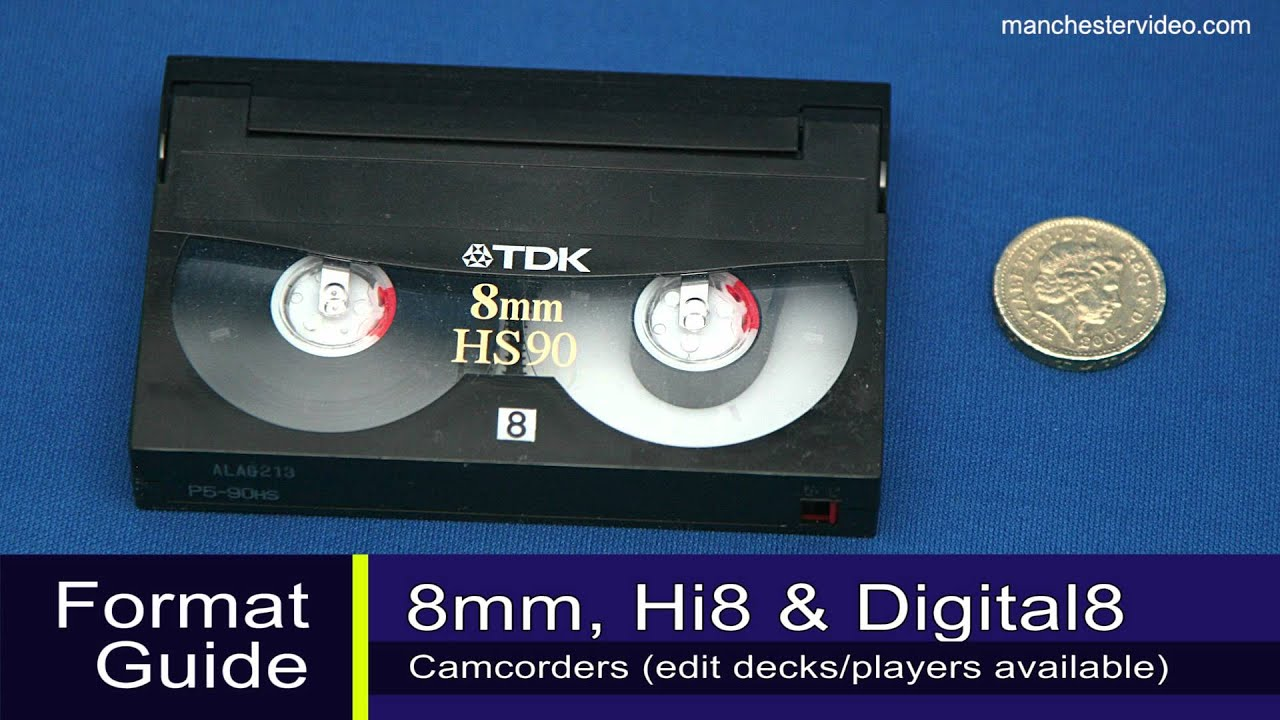 How to identify 8mm, Hi8, Digital 8, VHS, VHS-C, MiniDV and Betamax tapes