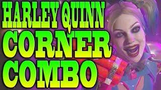 Injustice 2 HARLEY QUINN COMBOS! - HARLEY QUINN CORNER COMBO TUTORIAL