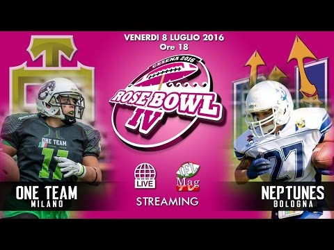 ROSE BOWL IV -   One Team Milano vs Neptunes Bologna