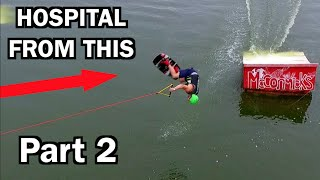 LEARNING TO BACKFLIP A WAKEBOARD!!! *Hospitalized*