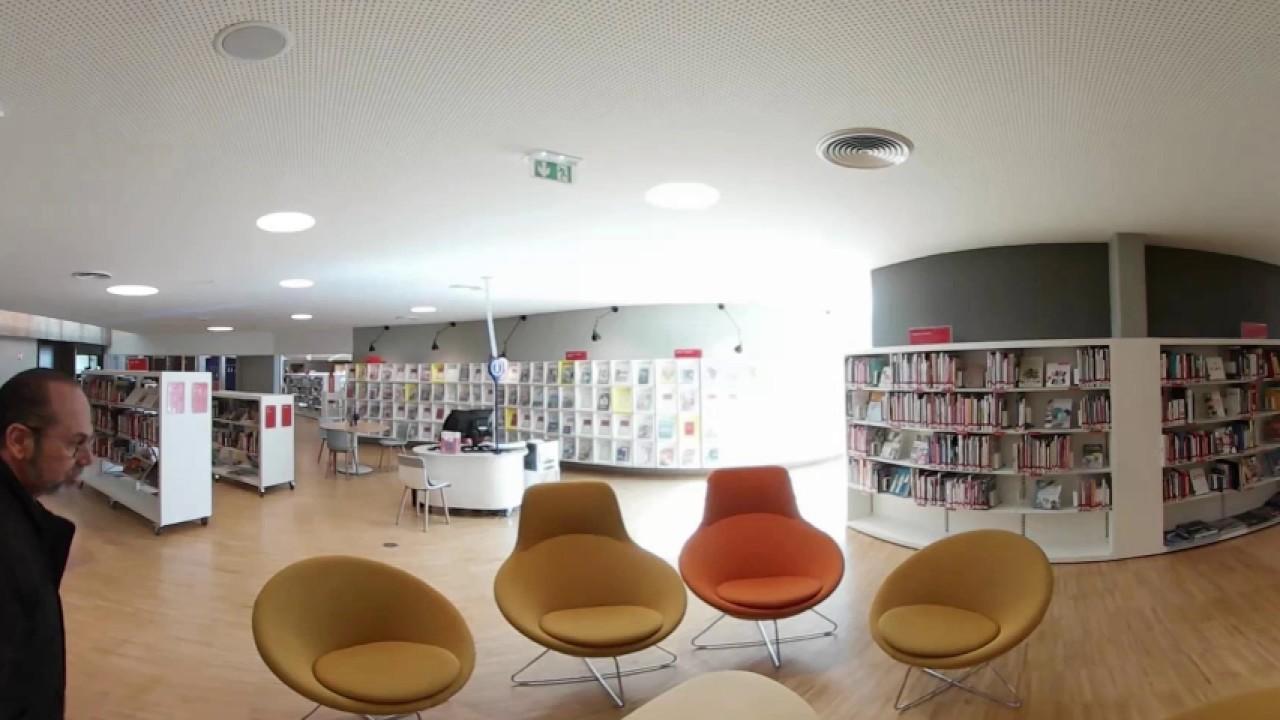 biblioth que niemeyer le havre 360 youtube. Black Bedroom Furniture Sets. Home Design Ideas