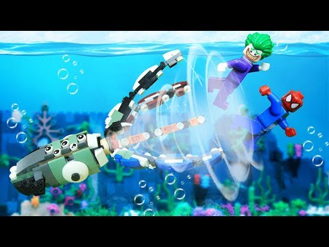 Lego Kraken Vs Spiderman [Brick Creation 🔴53]
