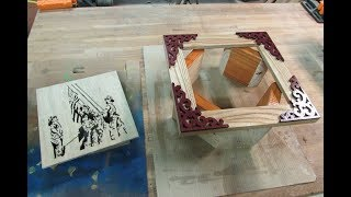 Picture Frame , 9 -11 Tribute, Scroll Saw Portrait
