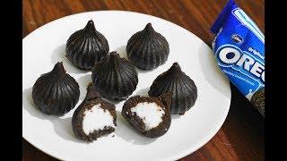 Oreo Modak/Stuffed Oreo Modak/Oreo Biscuit Modak/Instant Modak Recipe/Ganesh Chaturthi Special