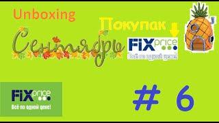 #141 Unboxing   (Фикс Прайс)Покупки в Fix Price все по 45! Сентябрь