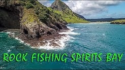 ROCK FISHING SPIRIT'S BAY FOR KINGFISH AND SNAPPER