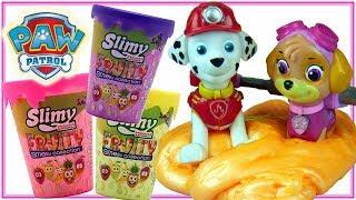 Psi Patrol & Slimy Fruity 🍉 Marshall i Skye w Slime 🌈 bajki dla dzieci