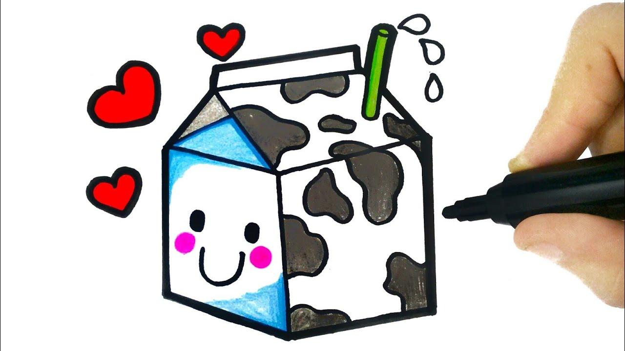 How To Draw A Milk Drawing A Milk Como Desenhar Uma Caixa De