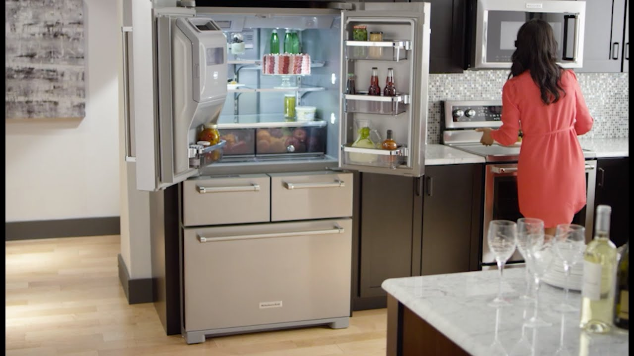 KitchenAid® 5 Door Refrigerator Professionally Inspired Design