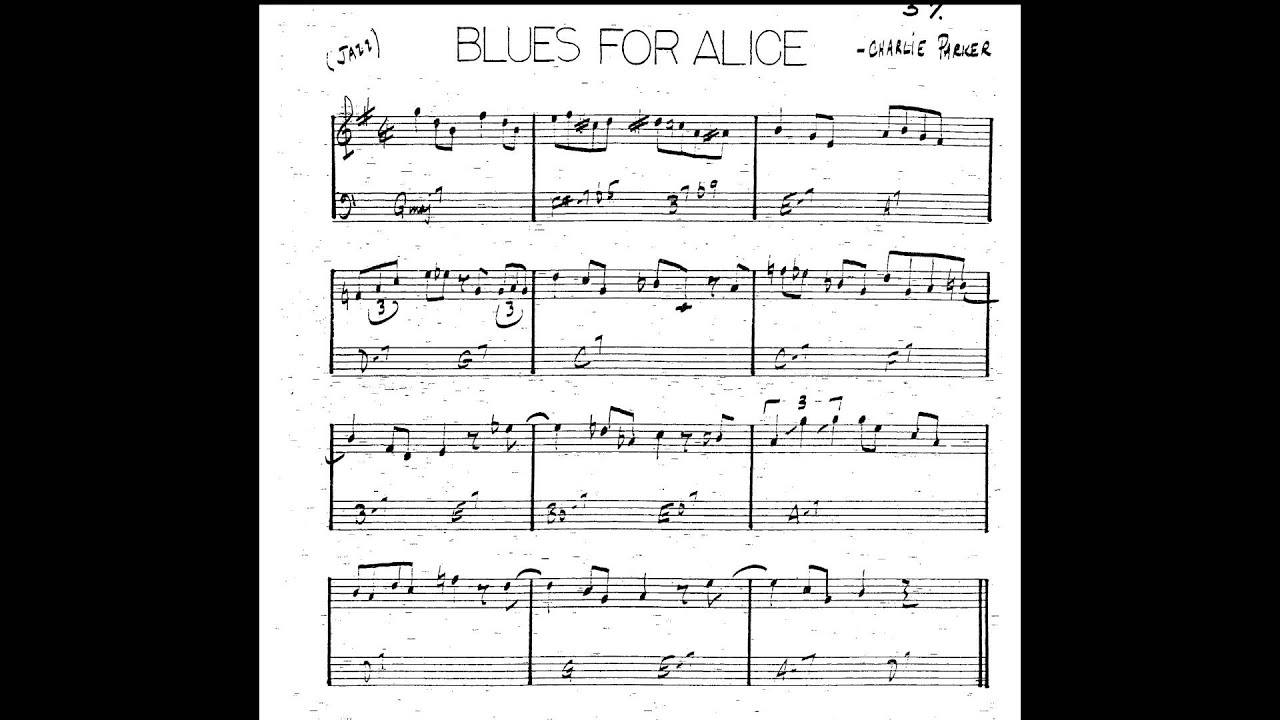 Blues For Alice (Bb/B flat instruments) Play along - Backing track