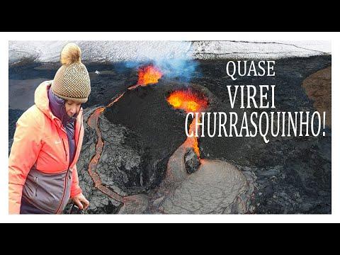 IMPRESSIONANTE!  FILMAGEM COM DRONE DENTRO DA ERUPÇÃO do vulcão NA ISLÂNDIA  |  Fagradalsfjall