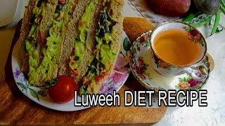 Luweeh DIET Recipes #1  Avocado SANDWICH