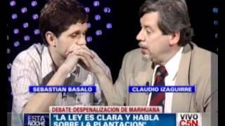 C5N-Pelea entre Sebastian Basalo y Claudio Izaguirre (debate por la marihuana) thumbnail