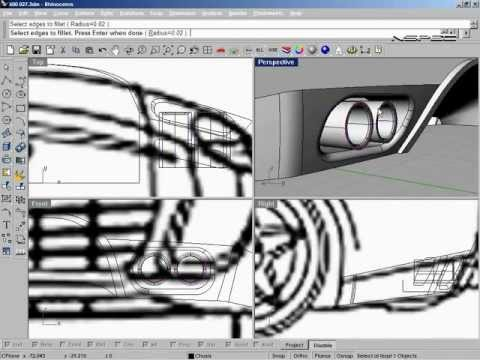 Rhino 3D Car Tutorial 600GTZ Forged from Scratch - Sample Super Speed