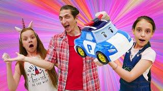 Смешное видео для детей - Супер Челлендж Без Рук! - Кукла Барби и игры для девочек.