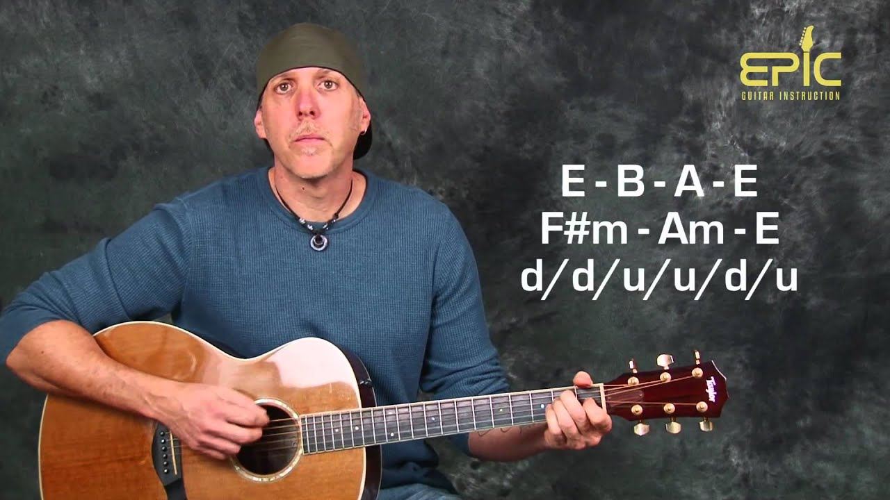 Learn To Play The Beatles Nowhere Man Easy Acoustic Guitar Lesson