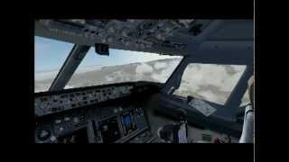 FS2004 Innsbruck approach and landing Boeing 737 800 Austrian Airlines