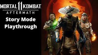 Mortal Kombat Aftermath: Story Mode Playthrough [BOTH ENDINGS]