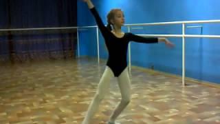 Ballet class -  фигуристка Микутина О  - 11лет.- Пятый год обучения.