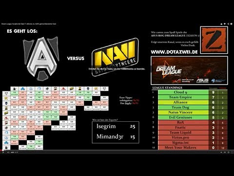 Dream League Hauptrunde Spiel 7: Alliance vs. Na'Vi german/deutscher Cast