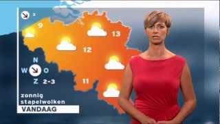 Sabine Hagedoren Zonnig Weerbericht 6 April 2012 Belgische Weervrouw