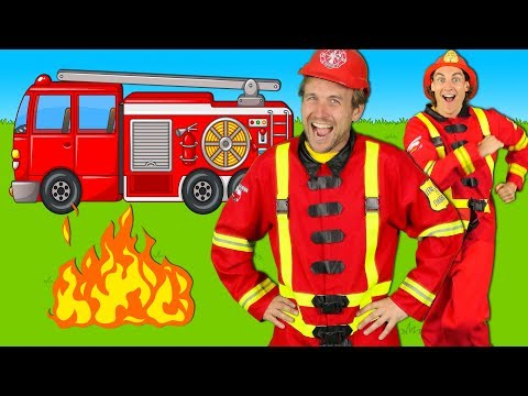 Firefighters Song for Kids - Fire Truck Song - Fire Trucks Rescue Team   Kids Songs