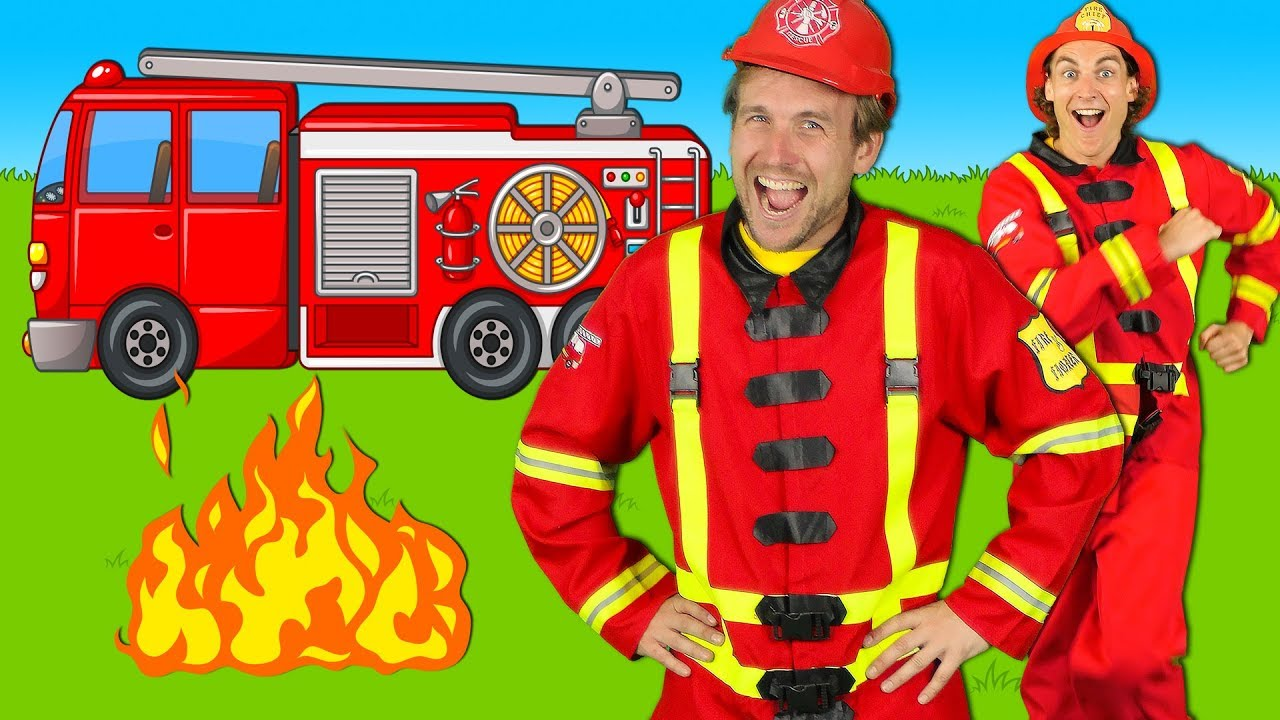 32a1a9fdb76 Firefighters Song for Kids - Fire Truck Song - Fire Trucks Rescue Team |  Kids Songs