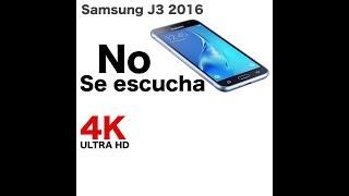 Samsung J3 2016 no se escucha