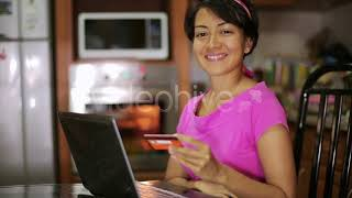 Woman Buying With Credit Card - Stock Footage from Videohive