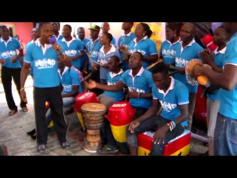 Cephas Aban Drumming at Happy FM 98.9 Competition