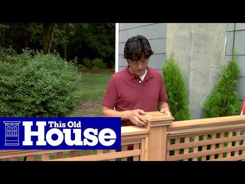 build wood lattice fence