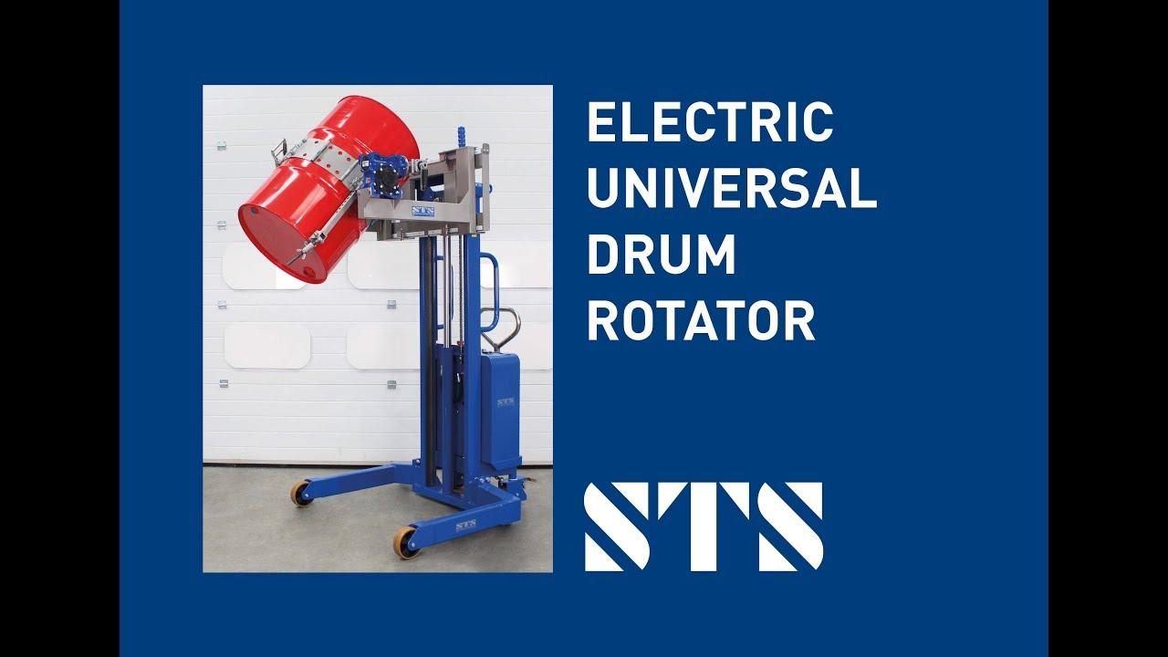 STS - Electric Lift Universal Drum Rotator Drum Stacker Rotator (Model: STE01-DRU01)