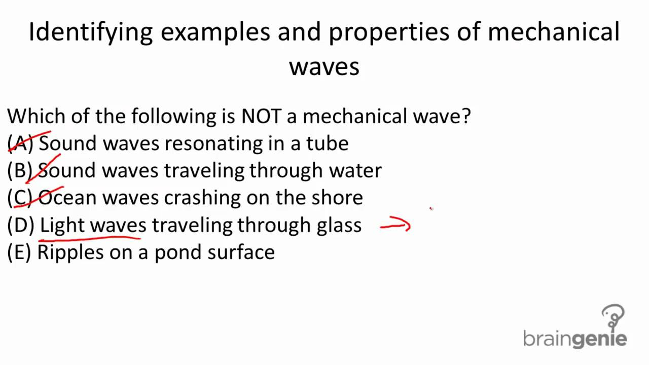 7131 Identifying Examples And Properties Of Mechanical Waves