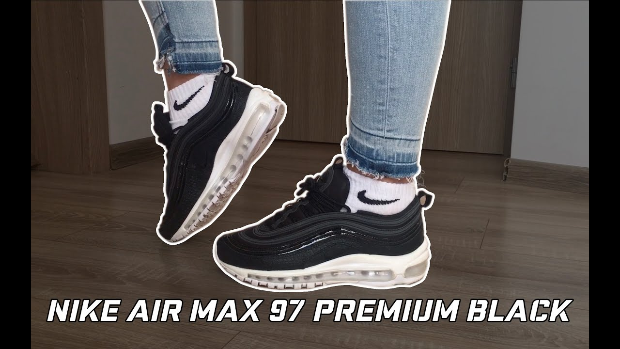 Nike WMNS Air Max 97 Premium Black   Unboxing, Close Up Look & On Feet Review