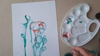 Ниткография. Нетрадиционная техника рисования. Мастер-класс Галины Кондратенко