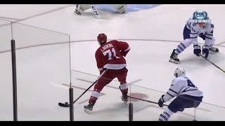 Dylan Larkin First NHL Goal vs Toronto (10/9/15)