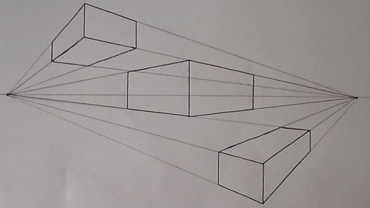 How To Draw In Two Point Perspective  Easy  YouTube