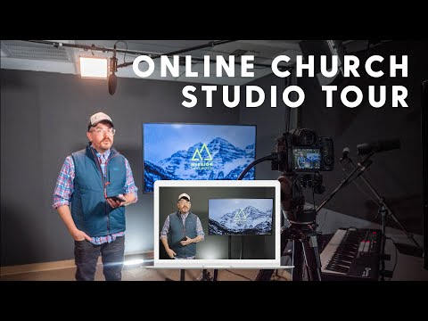 Online Church Studio Tour | Broadcast Setup for Small Churches