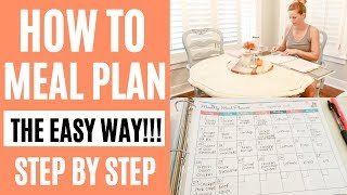 Meal Planner - HOW TO MEAL PLAN THE EASY WAY // MONTHLY MEAL PLANNING // Amy Darley