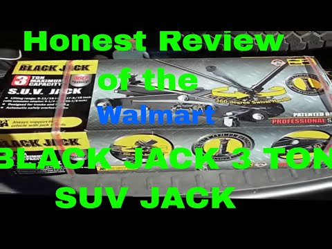 Review of Black Jack 3 Ton SUV Car Jack from Walmart