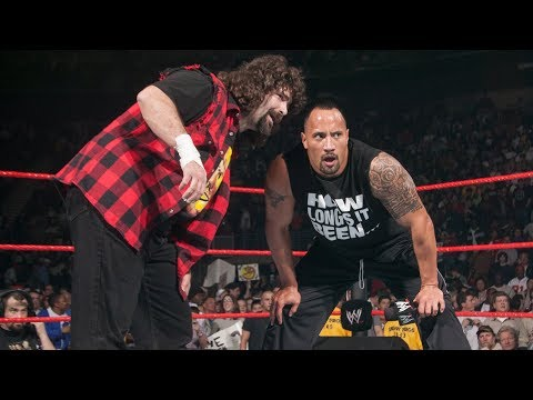 The Rock returns to help Mick Foley against Evolution: Raw, March 1, 2004