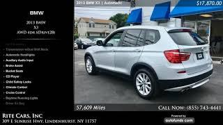 Used 2013 BMW X3   Rite Cars, Inc, Lindenhurst, NY