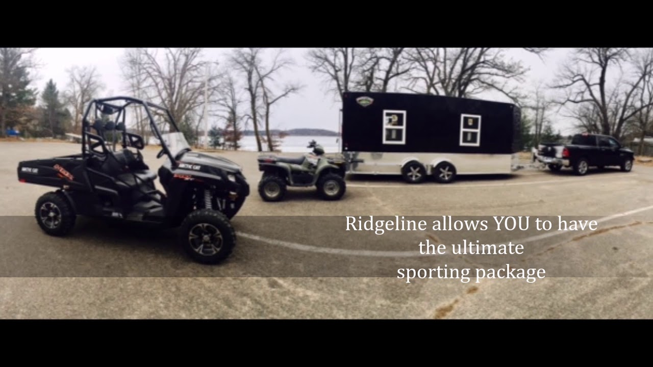 18\' Tandem Axle Ridgeline Fish House YouTube Updated - YouTube