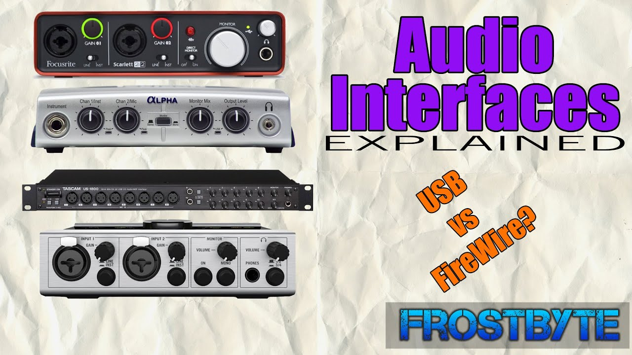 FireWire vs USB? | Audio Interfaces - YouTube