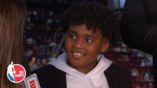 Kendrick Perkins' 8-year-old son Stone on being a viral sensation | Hoop Streams | NBA on ESPN