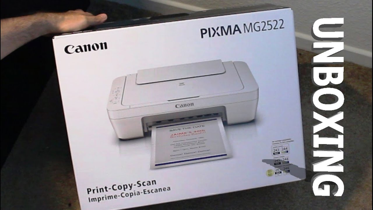 Canon Pixma Mg2522 Printer Scanner Copier Unboxing