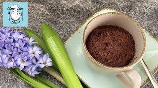Шоколадный кекс в чашке за 3 минуты (без яиц)